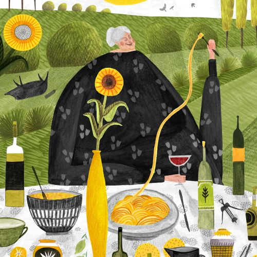 magazine, editorial, wine, food, italy, pasta, grandma, granny