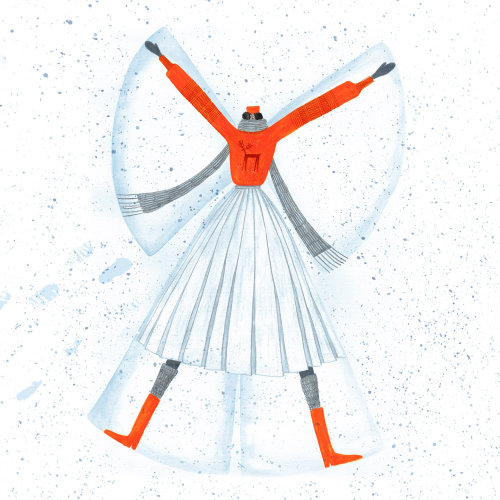 Snow angel illustration