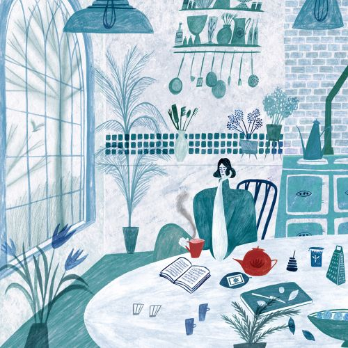 kitchen, tea, cooking, cook, winter, reading, book