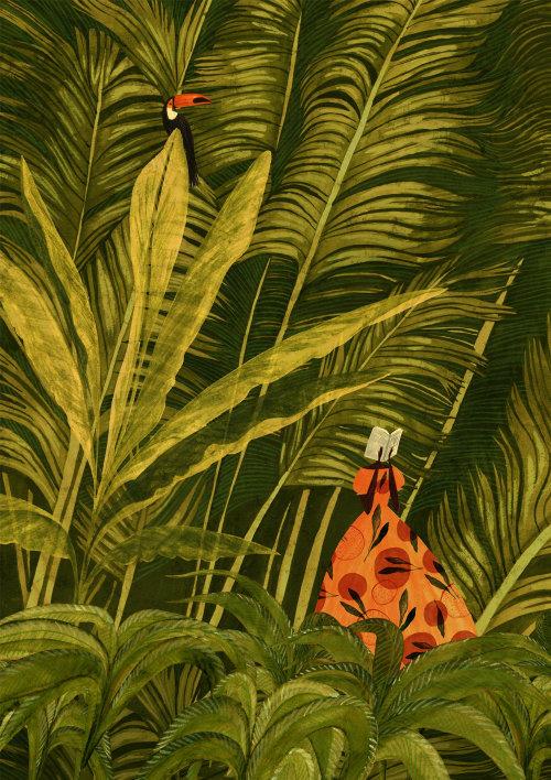 Jungle plants painting for 2021 Calendar