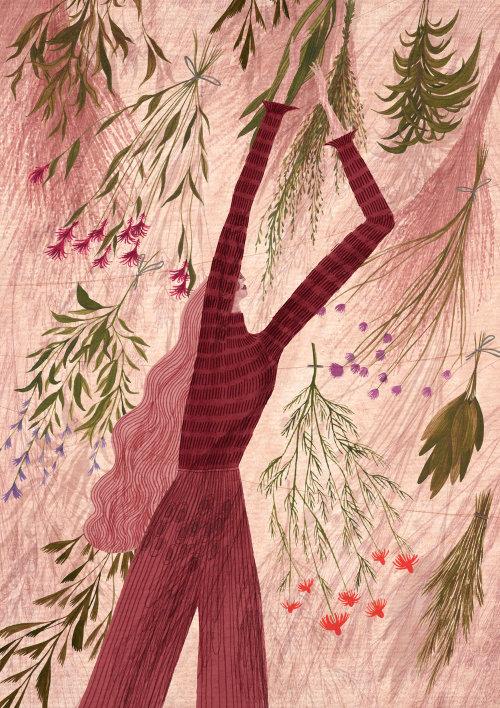 Herb garden painting