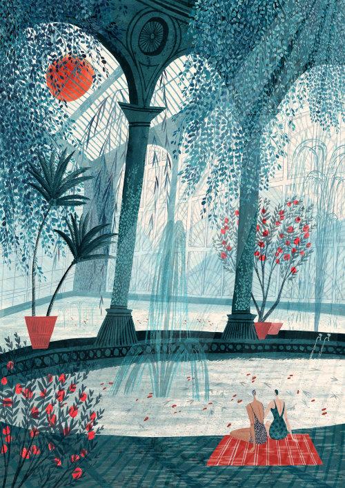 Nature illustration for calendar