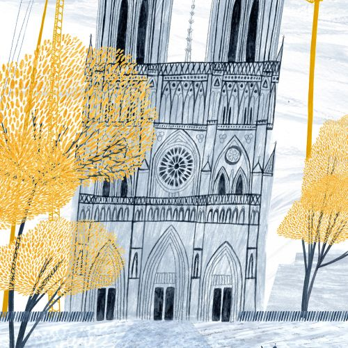 editorial, notre dame, paris, france, church, cathedral, building