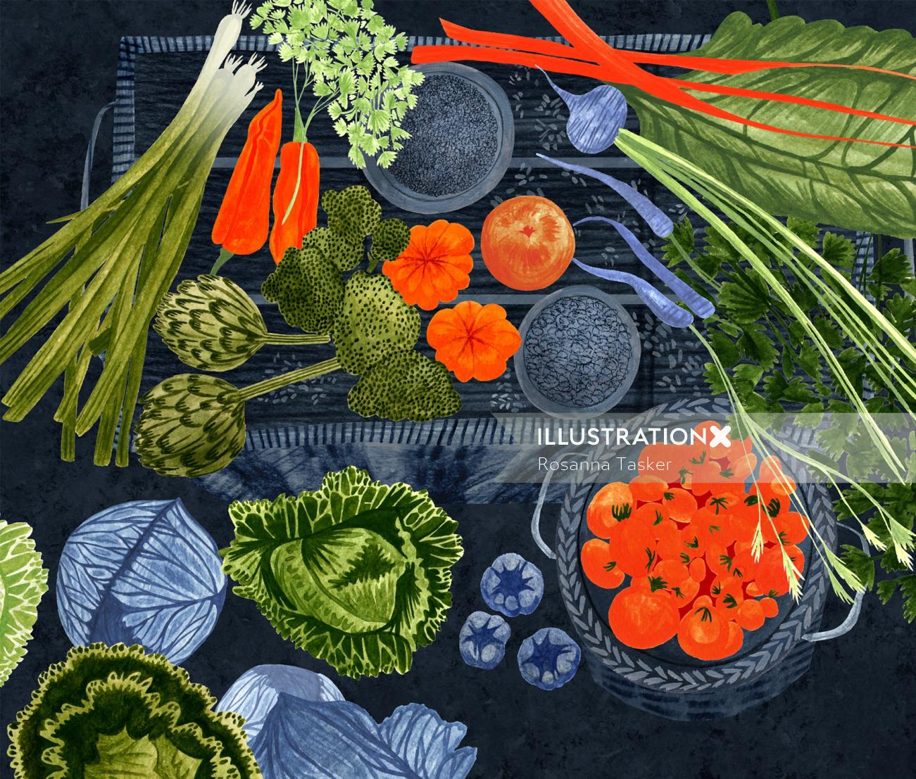 editorial, cover, cook, cooking, fresh food, food