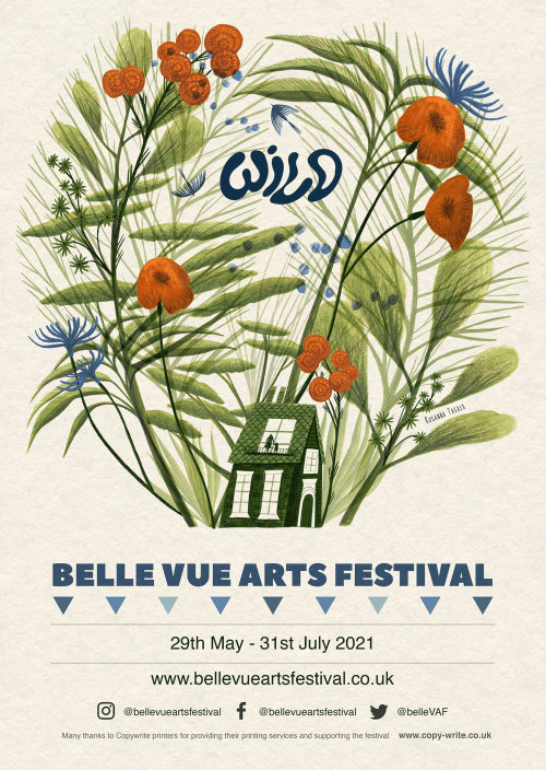 WILD theme poster art for Bellevue art festival