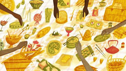 Picnic food banner for Cande Nast Travelers
