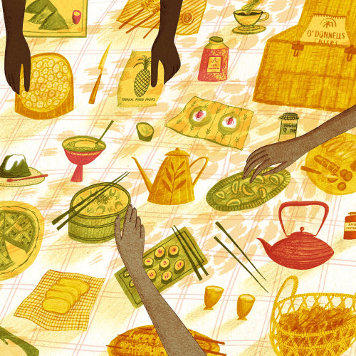 Picnic food illustration
