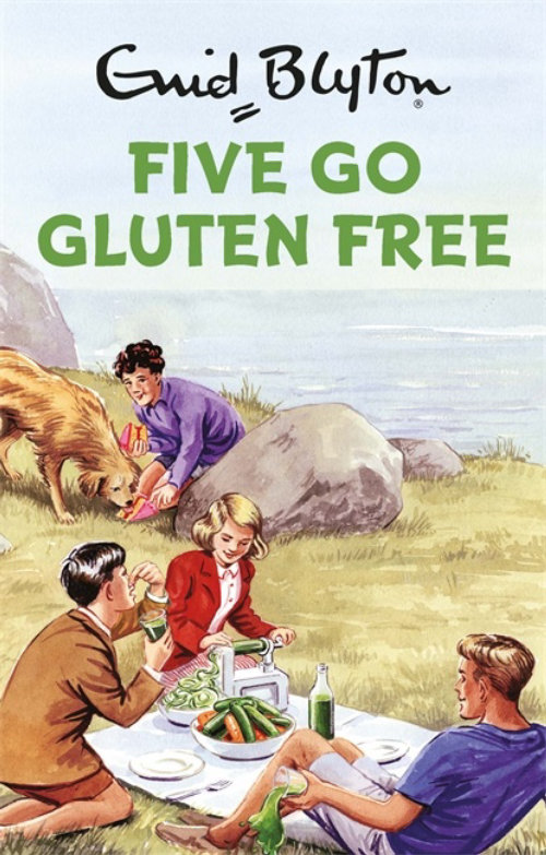 Book cover illustration of five go gluten free
