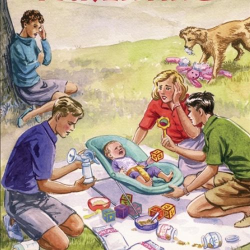 five go parenting cover illustration by ruth palmer