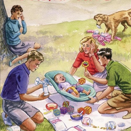 Five go parenting book cover illustration by ruth palmer