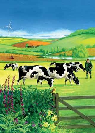 Clipart of a pasture
