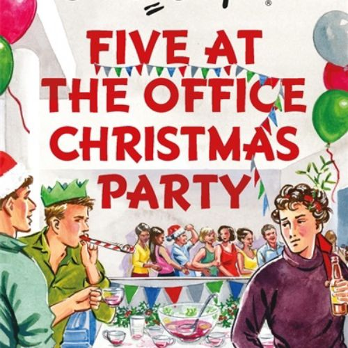 Book cover of five at office Christmas party