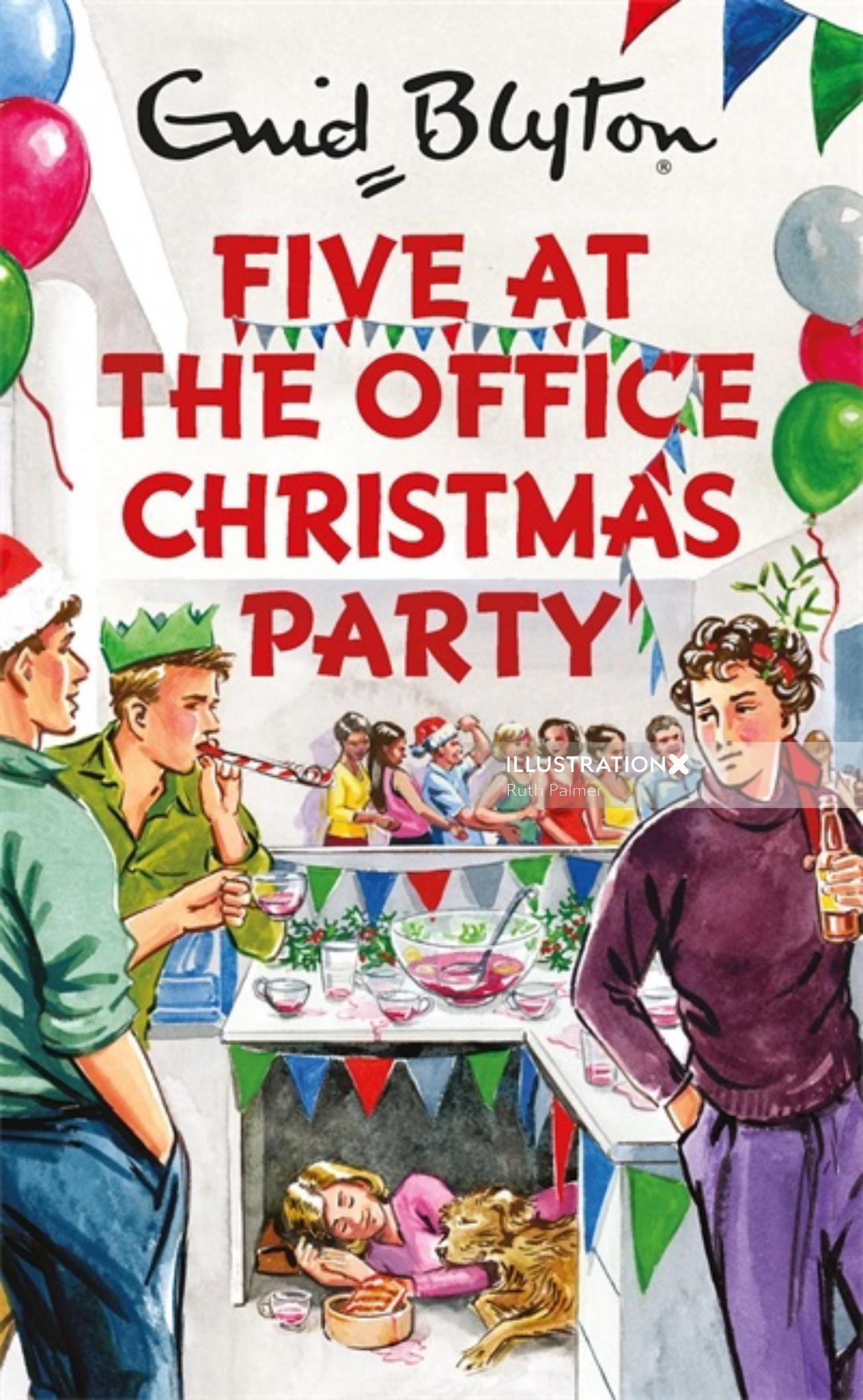 cover of five at office christmas party
