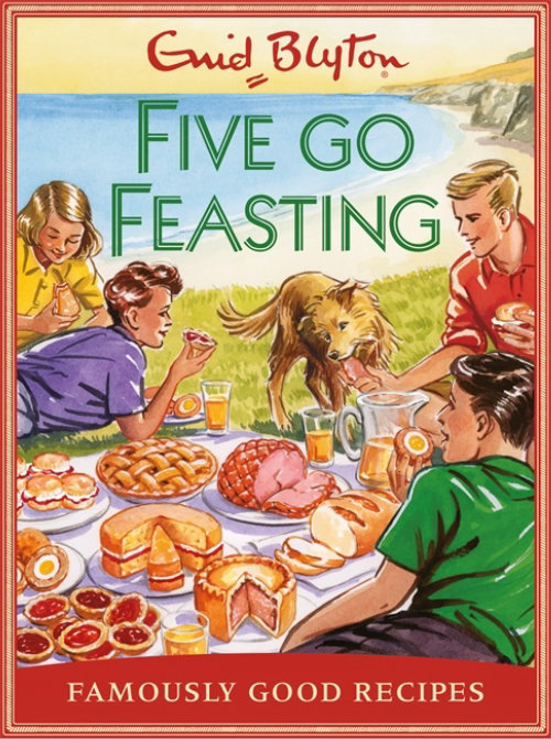 Book cover illustration of five go feasting