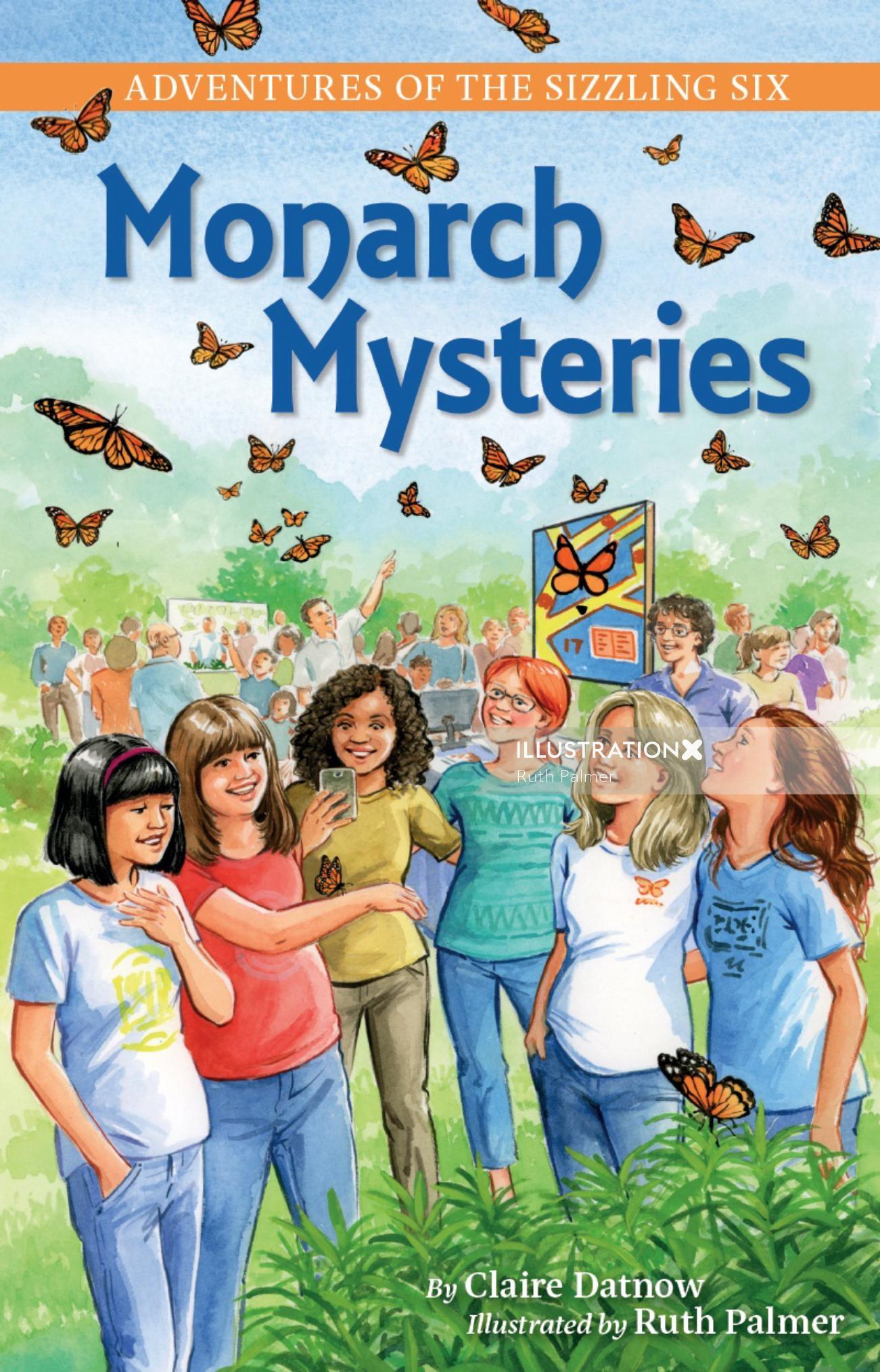 Monarch Mysteries children book cover