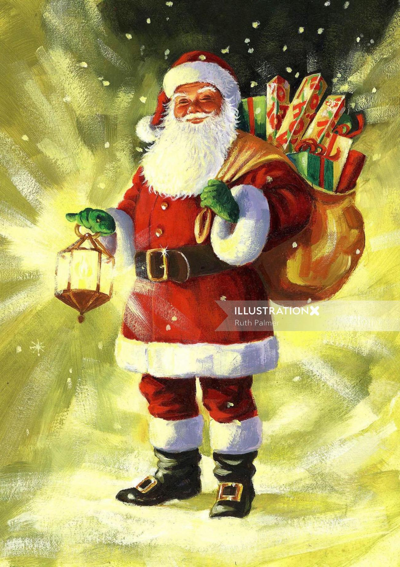 Santa Claus With Sack of Gifts