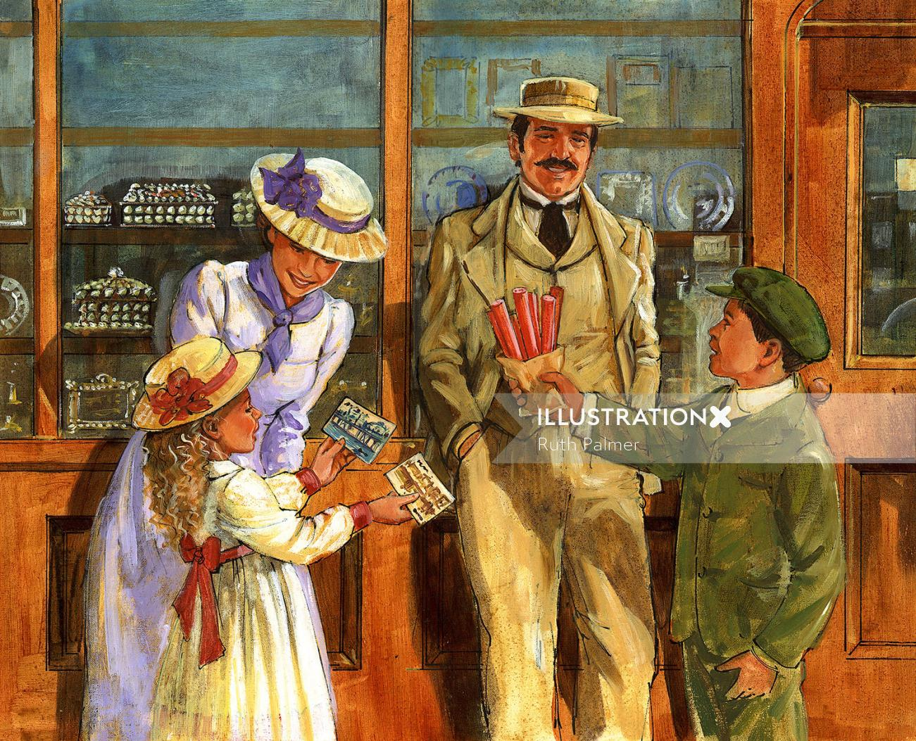 Painterly for victorian souvenir shop by ruth palmer