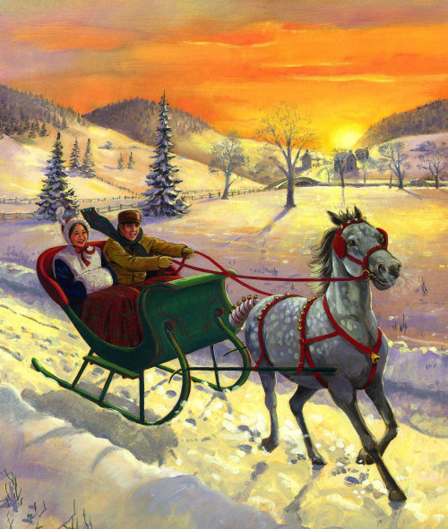 jingle bells illustration by ruth palmer