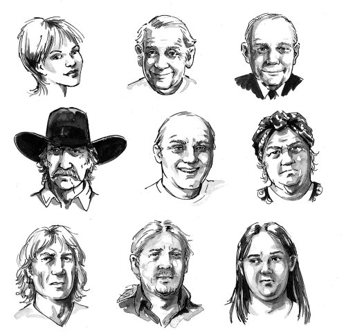 People heads pictograph