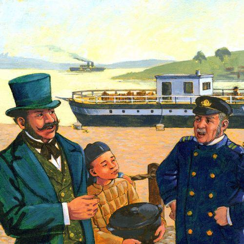 Historical USA educational illustration