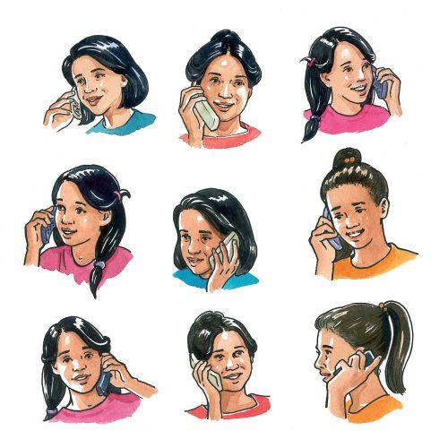 Pictograph of ladies