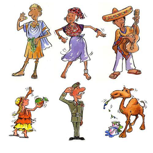 Different cartoon figures