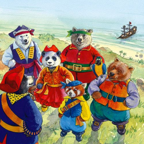Pirate bears on island