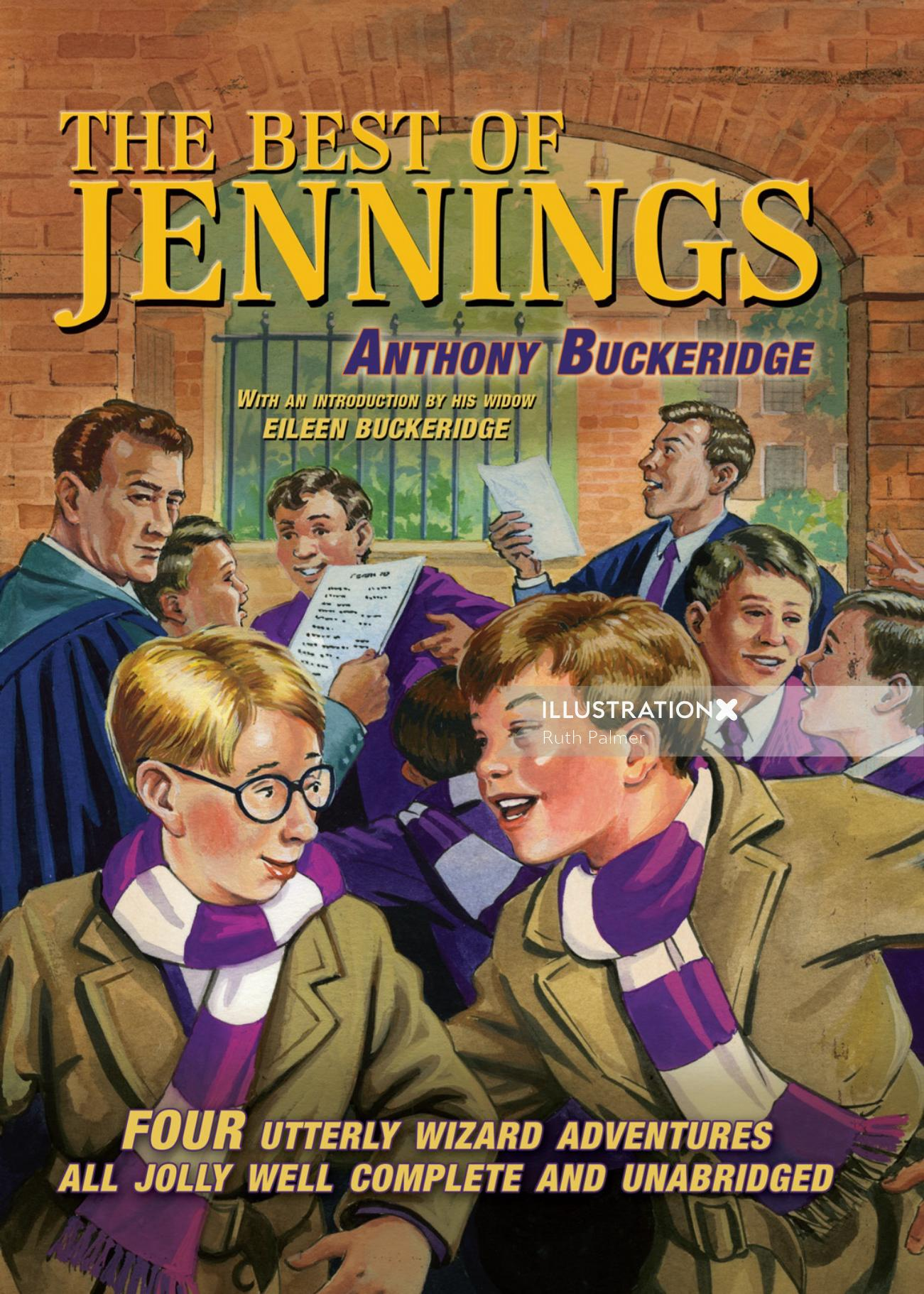 Book cover design of best of Jennings