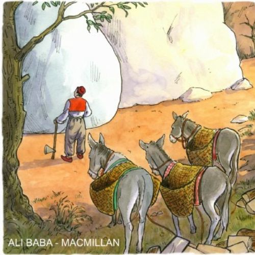 Ali Baba internal book illustration