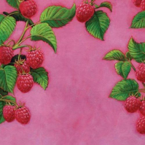 Rasberry mural art