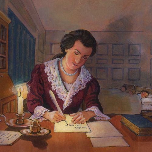 Women writing a letter