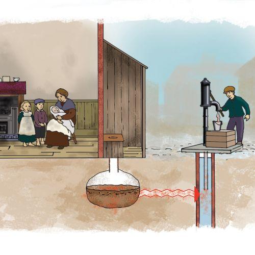 Cholera Educational art