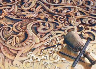 Old Danish carving viking period