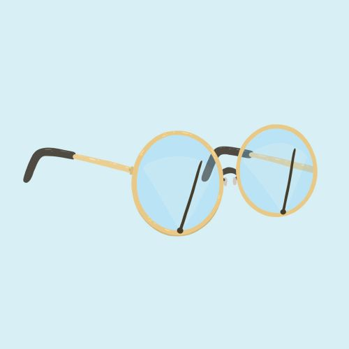 Eye glasses wiper animation