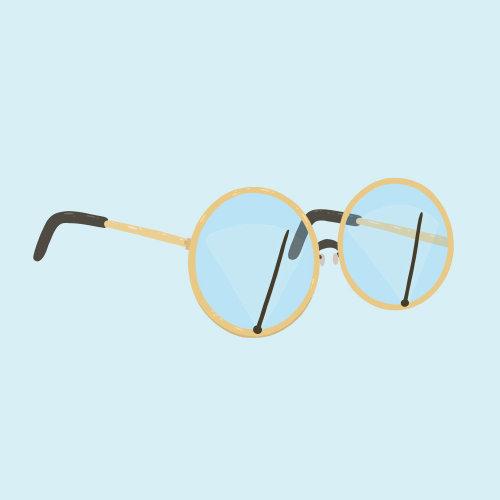 Eye glasses wiper animation
