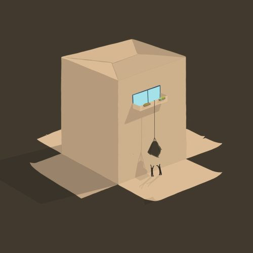 Cardboard house animation