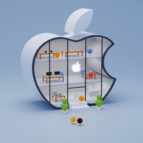 3d illustration of apple house