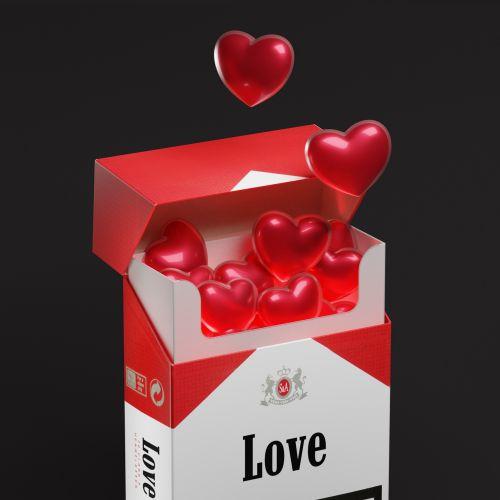 3d illustration of love