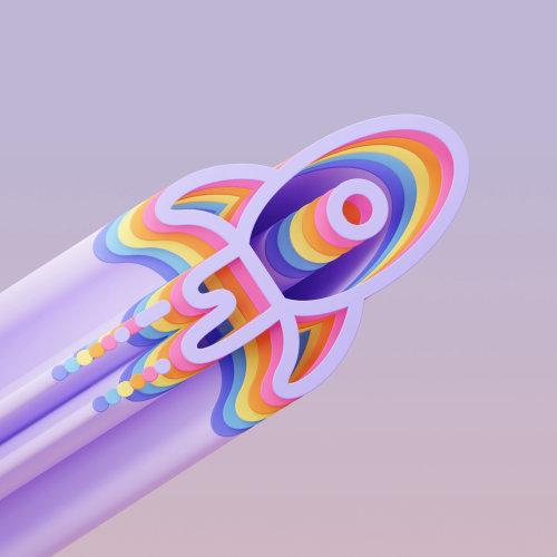 3d illustration of rocket