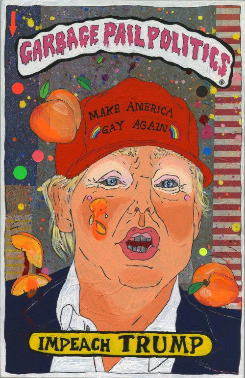 Ilustração conceitual da política do balde de lixo