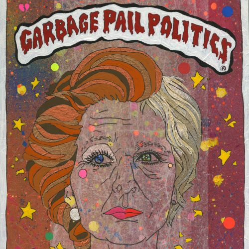 Poster design of garbage pail politics of maggie may