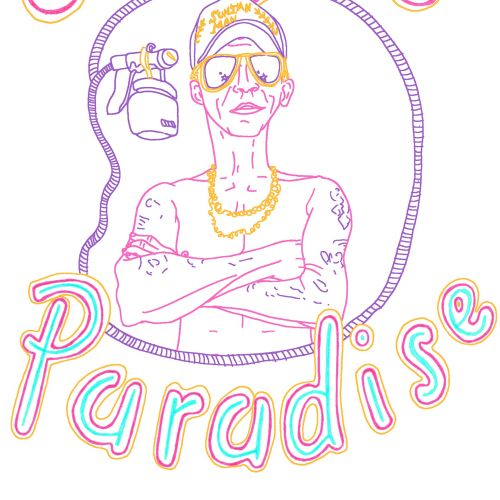 Lettering art of surfers paradise