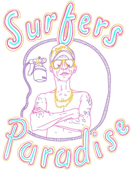 Letras do paraíso dos surfistas
