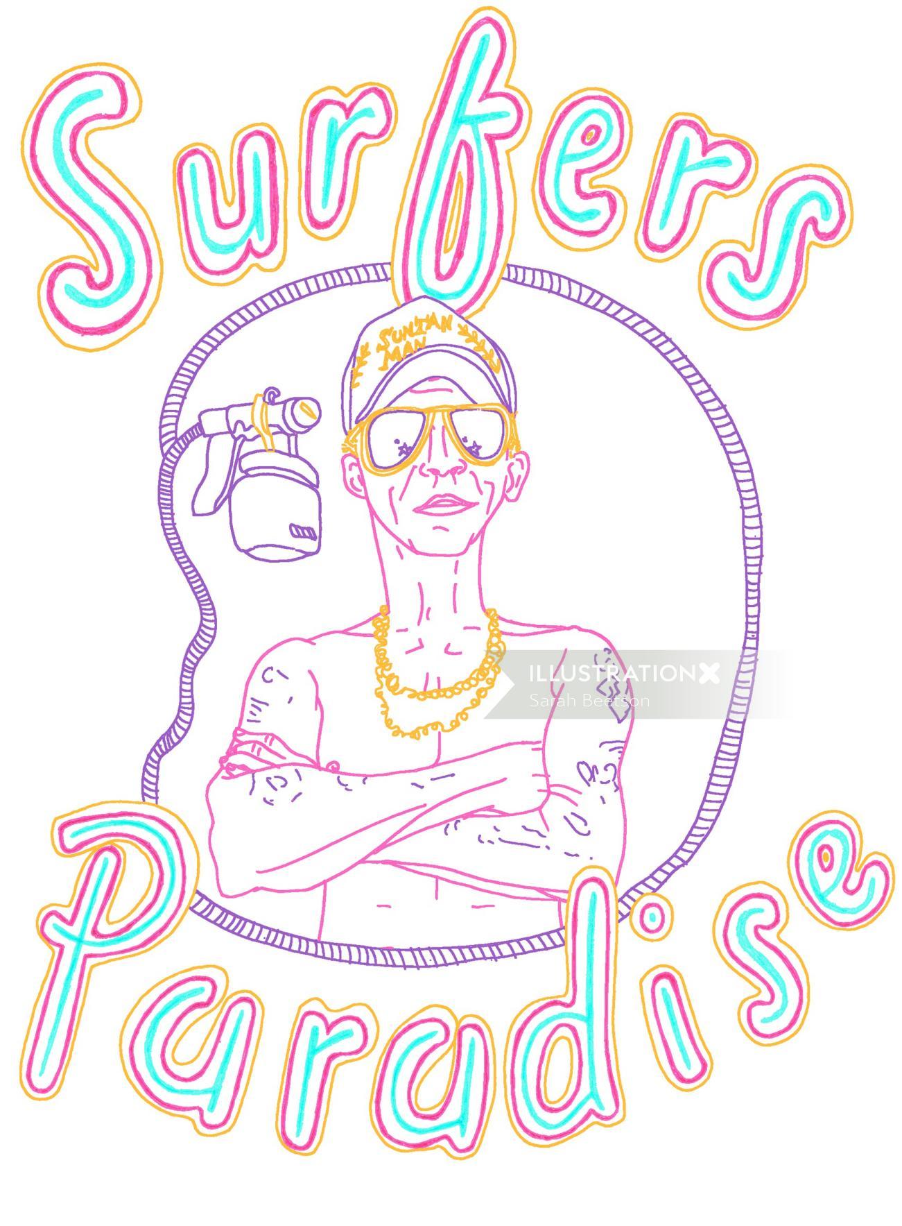 Lettering art of surfers paradise