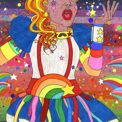 Happy Mardi Gras Sydney colourful illustration
