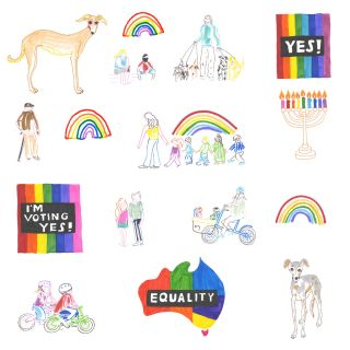 Illustration of Marriage Equality in Australia