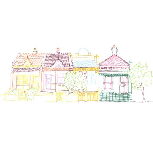 Ilustração de linha de casa