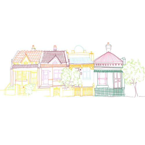 Line illustration of house