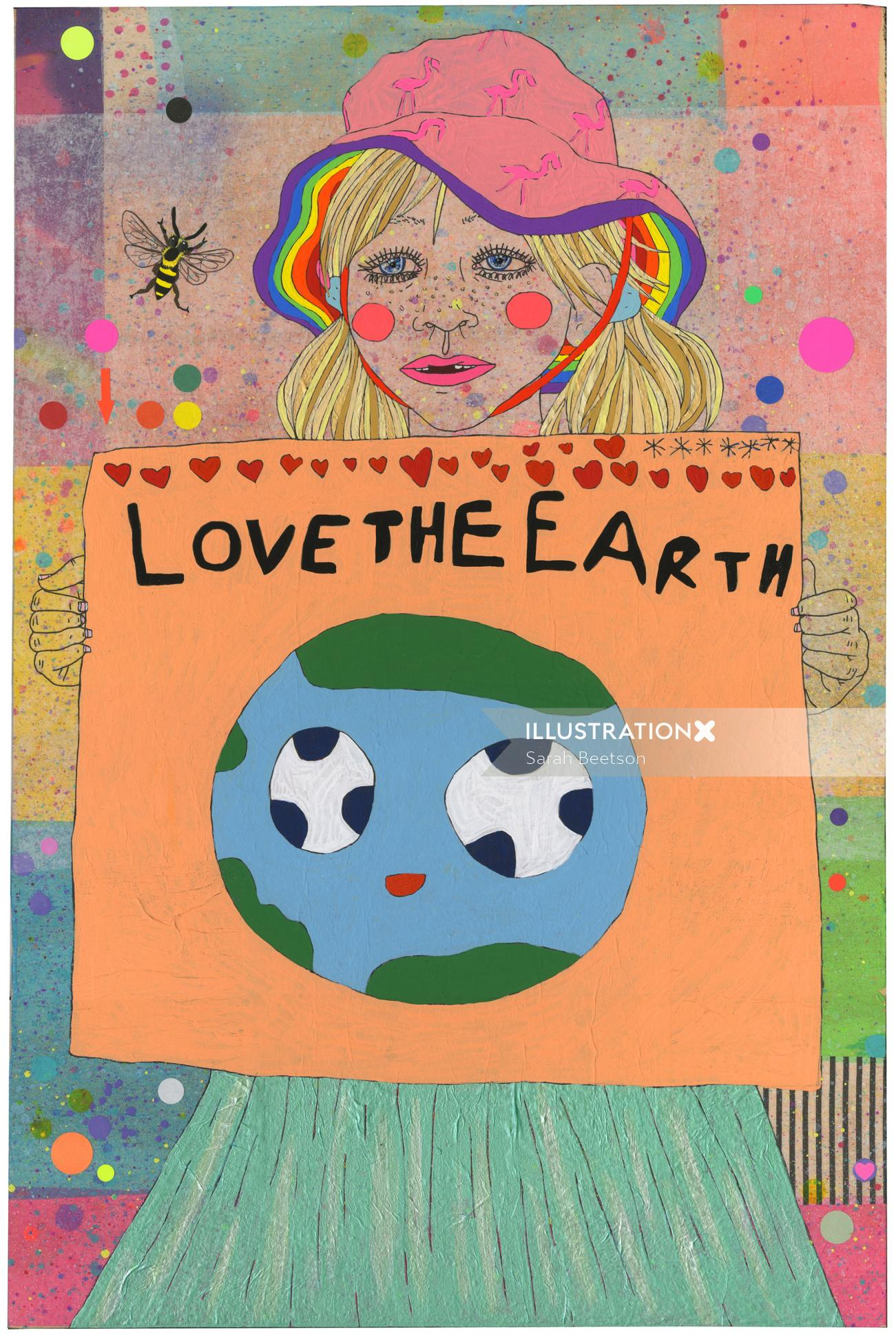 Love the earth painting