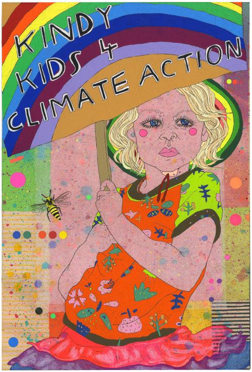 Pintura de crianças para ação climática
